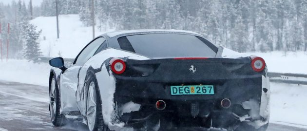 Ferrari dips into its parts bin to test a Dino, or something