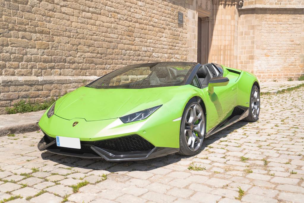 Lamborghini Huracan Spyder Green Rental Ibiza