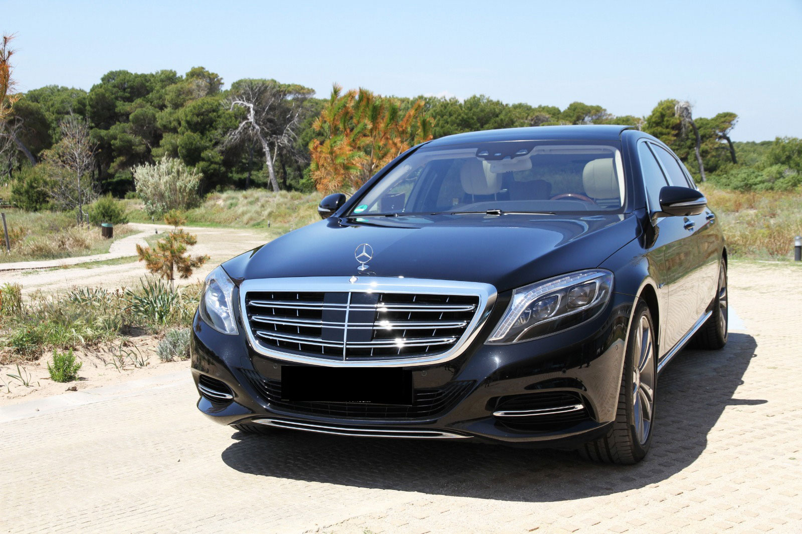Mercedes S500 Maybach rental Ibiza