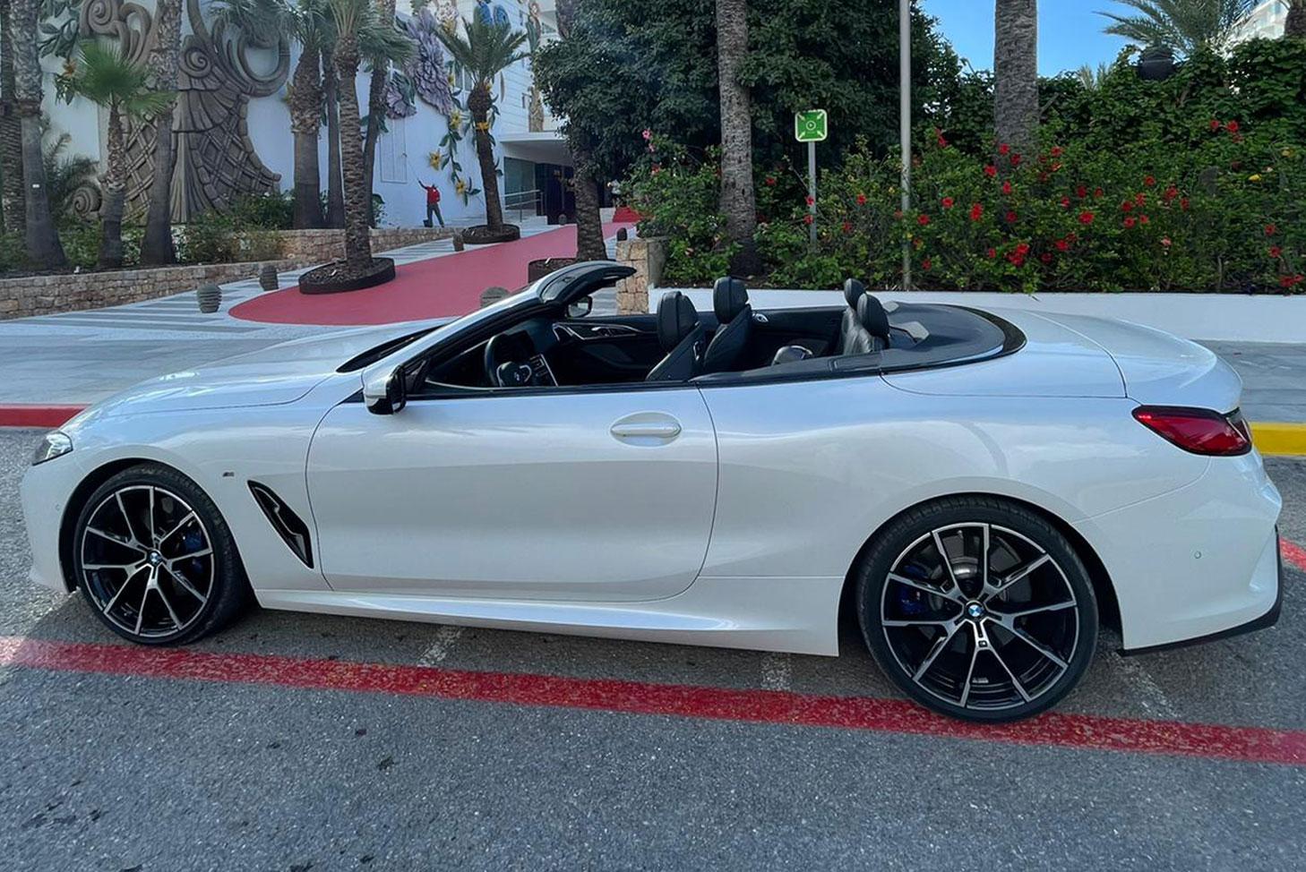 BMW 8 series cabrio rental Ibiza